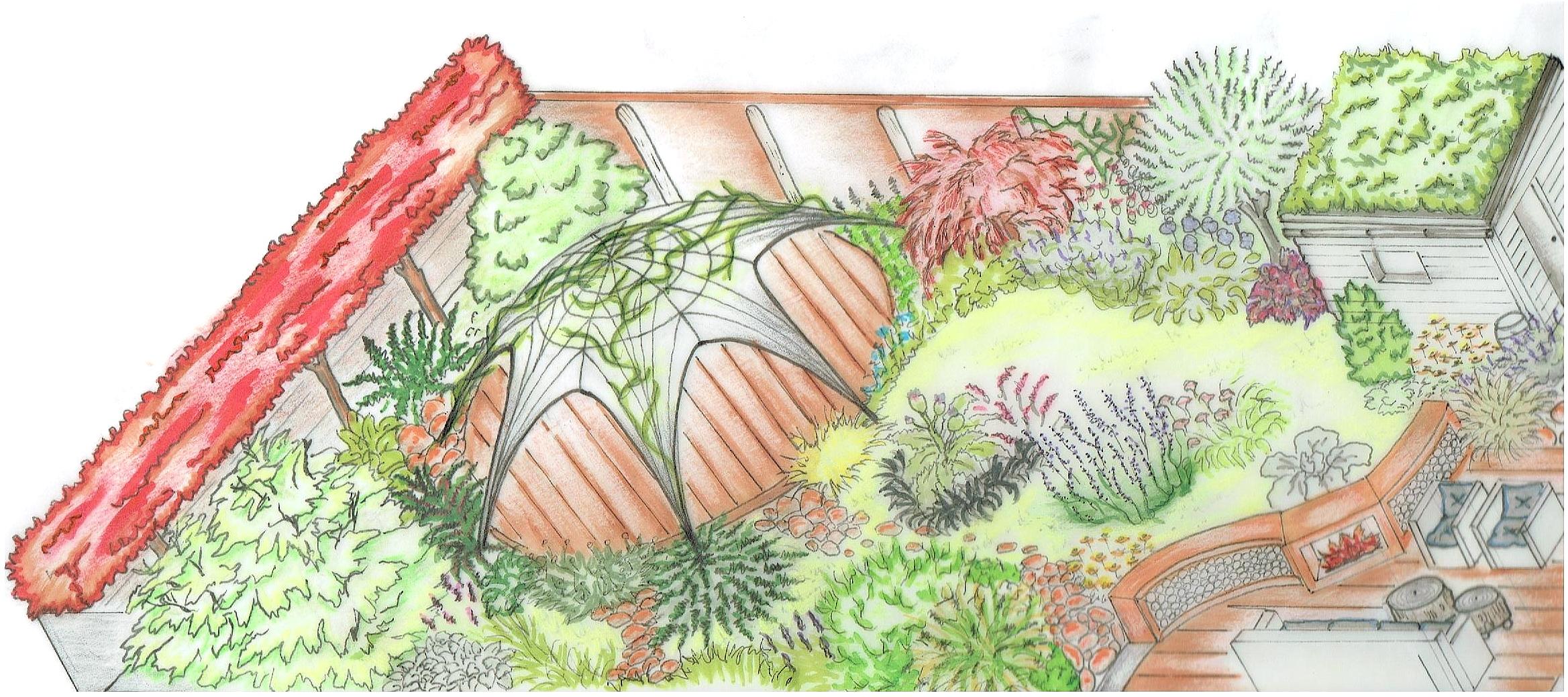 Tuinontwerp bij Tuinmankunst
